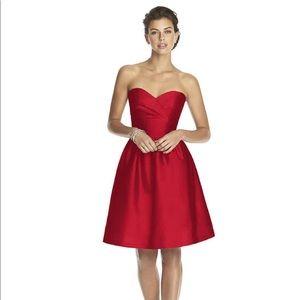 Alfred Sung Strapless Formal Dress Sz 4
